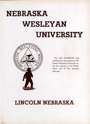 Page 2, 1950 Edition, Nebraska Wesleyan University - Plainsman Yearbook (Lincoln, NE) online yearbook collection