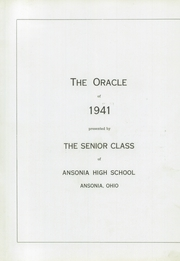 Ansonia High School - Oracle Yearbook (Ansonia, OH) online yearbook collection, 1941 Edition, Page 1