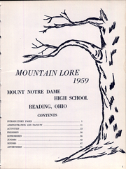 Page 7, 1959 Edition, Mount Notre Dame High School - Mountain Lore Yearbook (Reading, OH) online yearbook collection