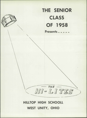 Page 7, 1958 Edition, Hilltop High School - Hi Lites Yearbook (West Unity, OH) online yearbook collection