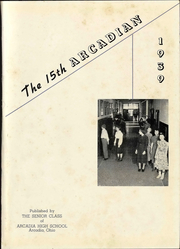 Page 5, 1939 Edition, Arcadia High School - Arcadian Yearbook (Arcadia, OH) online yearbook collection
