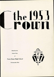 Page 7, 1953 Edition, Notre Dame High School - Crown Yearbook (Portsmouth, OH) online yearbook collection