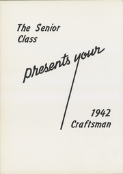 Page 6, 1942 Edition, Macomber Vocational High School - Craftsman Yearbook (Toledo, OH) online yearbook collection