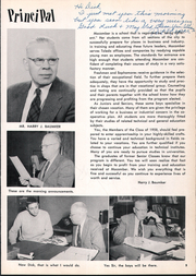 Page 9, 1958 Edition, Macomber Vocational High School - Craftsman Yearbook (Toledo, OH) online yearbook collection