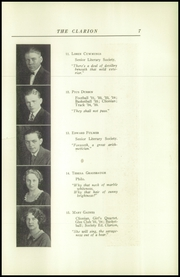 Page 11, 1925 Edition, Danville High School - Clarion Yearbook (Danville, OH) online yearbook collection