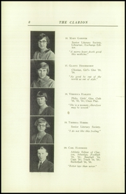 Page 12, 1925 Edition, Danville High School - Clarion Yearbook (Danville, OH) online yearbook collection