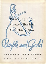 Page 9, 1939 Edition, Cathedral Latin School - Purple and Gold Yearbook (Cleveland, OH) online yearbook collection