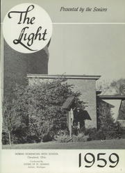 Page 5, 1959 Edition, Hoban Dominican High School - Light Yearbook (Cleveland, OH) online yearbook collection