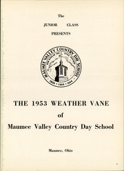 Page 5, 1953 Edition, Maumee Valley Country Day High School - Weather Vane Yearbook (Toledo, OH) online yearbook collection
