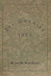 Page 1, 1922 Edition, Malta McConnelsville High School - Unonian Yearbook (McConnelsville, OH) online yearbook collection