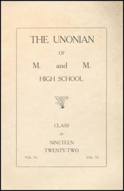Page 3, 1922 Edition, Malta McConnelsville High School - Unonian Yearbook (McConnelsville, OH) online yearbook collection