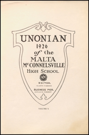 Page 5, 1926 Edition, Malta McConnelsville High School - Unonian Yearbook (McConnelsville, OH) online yearbook collection
