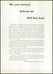 Page 7, 1958 Edition, St Marys High School - Bluebook Yearbook (Akron, OH) online yearbook collection