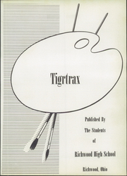 Page 7, 1952 Edition, Richwood High School - Tigrtrax Yearbook (Richwood, OH) online yearbook collection