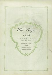 Page 7, 1928 Edition, Attica High School - Aquila Yearbook (Attica, OH) online yearbook collection