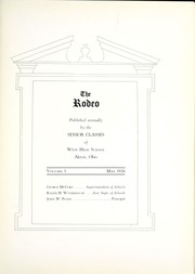 Page 9, 1926 Edition, West High School - Rodeo Yearbook (Akron, OH) online yearbook collection