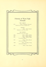 Page 12, 1929 Edition, West High School - Rodeo Yearbook (Akron, OH) online yearbook collection