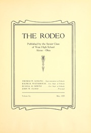 Page 9, 1929 Edition, West High School - Rodeo Yearbook (Akron, OH) online yearbook collection