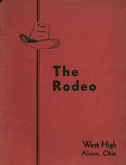 Page 1, 1940 Edition, West High School - Rodeo Yearbook (Akron, OH) online yearbook collection