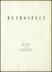 Page 5, 1944 Edition, Blume High School - Retrospect Yearbook (Wapakoneta, OH) online yearbook collection