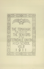 Page 5, 1911 Edition, Ferndale Union High School - Tomahawk Yearbook (Ferndale, CA) online yearbook collection
