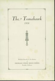 Page 5, 1928 Edition, Ferndale Union High School - Tomahawk Yearbook (Ferndale, CA) online yearbook collection