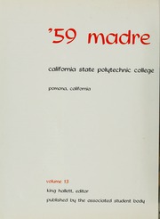 Page 6, 1959 Edition, California State Polytechnic University Pomona - Madre Tierra Yearbook (Pomona, CA) online yearbook collection