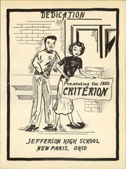 Page 11, 1950 Edition, Jefferson Township High School - Criterion Yearbook (New Paris, OH) online yearbook collection