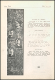 Page 10, 1921 Edition, Gnadenhutten High School - Goal Yearbook (Gnadenhutten, OH) online yearbook collection