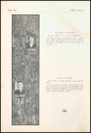 Page 12, 1921 Edition, Gnadenhutten High School - Goal Yearbook (Gnadenhutten, OH) online yearbook collection