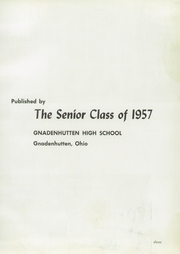 Page 7, 1957 Edition, Gnadenhutten High School - Goal Yearbook (Gnadenhutten, OH) online yearbook collection