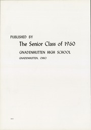 Page 6, 1960 Edition, Gnadenhutten High School - Goal Yearbook (Gnadenhutten, OH) online yearbook collection