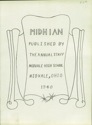 Page 5, 1940 Edition, Midvale High School - Midhian Yearbook (Midvale, OH) online yearbook collection