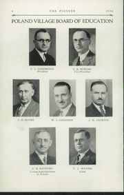 Page 10, 1934 Edition, Poland Seminary High School - Pioneer Yearbook (Poland, OH) online yearbook collection