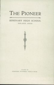 Page 3, 1934 Edition, Poland Seminary High School - Pioneer Yearbook (Poland, OH) online yearbook collection