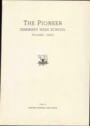 Page 9, 1947 Edition, Poland Seminary High School - Pioneer Yearbook (Poland, OH) online yearbook collection