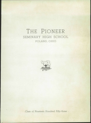 Page 7, 1953 Edition, Poland Seminary High School - Pioneer Yearbook (Poland, OH) online yearbook collection