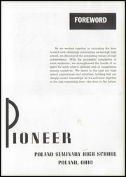 Page 7, 1957 Edition, Poland Seminary High School - Pioneer Yearbook (Poland, OH) online yearbook collection