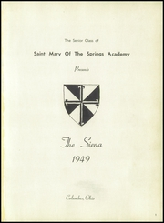 Page 5, 1949 Edition, St Mary of the Springs High School - Siena Yearbook (Columbus, OH) online yearbook collection