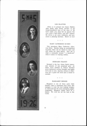 Page 13, 1926 Edition, St Mary Catholic High School - Marathon Yearbook (Marietta, OH) online yearbook collection