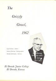 Page 5, 1962 Edition, Butler Community College - Grizzly Growl Yearbook (El Dorado, KS) online yearbook collection