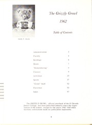 Page 6, 1962 Edition, Butler Community College - Grizzly Growl Yearbook (El Dorado, KS) online yearbook collection