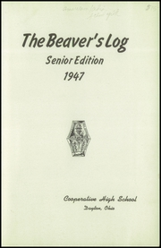Page 3, 1947 Edition, Dayton Cooperative High School - Beavers Log Yearbook (Dayton, OH) online yearbook collection