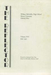 Page 7, 1937 Edition, McGuffey Foundation High School - Reflector Yearbook (Oxford, OH) online yearbook collection