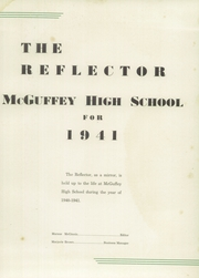 Page 5, 1941 Edition, McGuffey Foundation High School - Reflector Yearbook (Oxford, OH) online yearbook collection