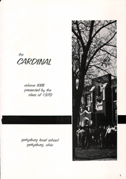 Page 5, 1970 Edition, Gettysburg High School - Cardinal Yearbook (Gettysburg, OH) online yearbook collection