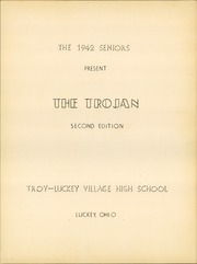 Page 5, 1942 Edition, Troy Luckey High School - Trojan Yearbook (Luckey, OH) online yearbook collection