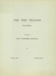 Page 5, 1951 Edition, Troy Luckey High School - Trojan Yearbook (Luckey, OH) online yearbook collection