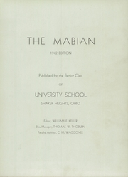 Page 7, 1942 Edition, University School - Mabian Yearbook (Hunting Valley, OH) online yearbook collection