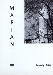 Page 2, 1966 Edition, University School - Mabian Yearbook (Hunting Valley, OH) online yearbook collection